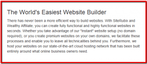 setting up a free website