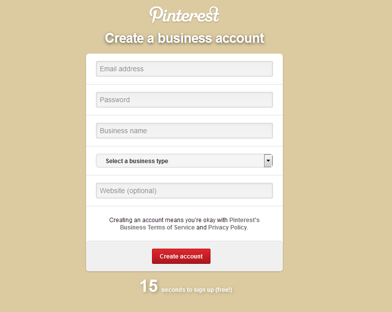 how to create pinterest business account