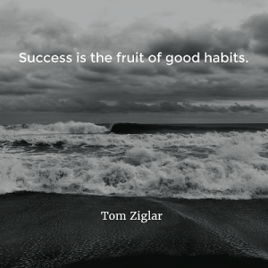 Tom Ziglar Success is the fruit of good habits