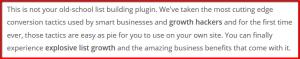 list building plugin