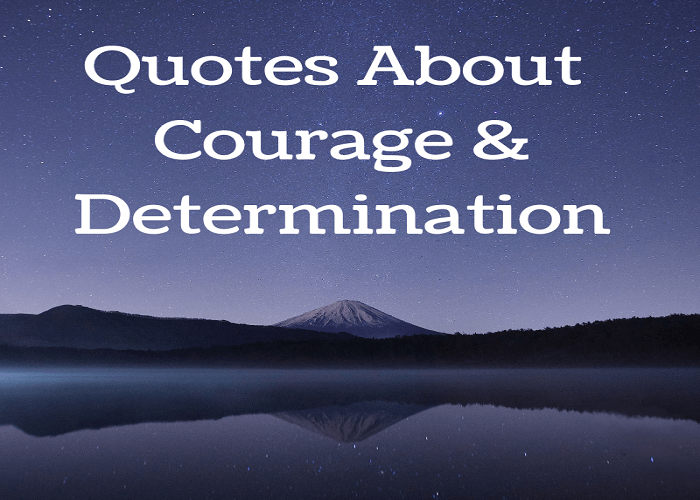 Quotes on Courage & Determination